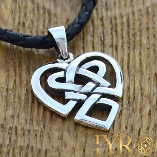 Bilde av Keltisk Flettet Hjerte - Sølv