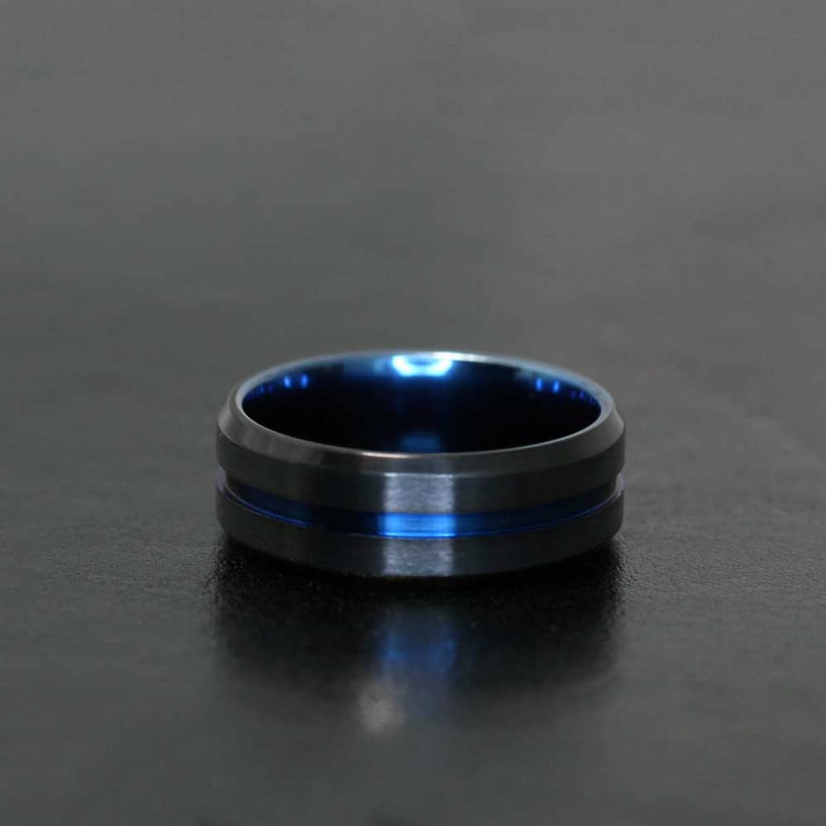 Apollon Sort-Blå - Stålring