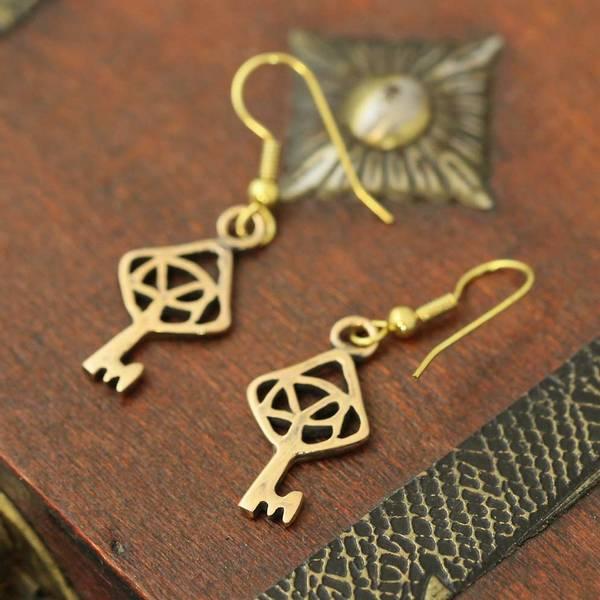 Bilde av Nøkkelen til Himmelriket - Bronse ørepynt