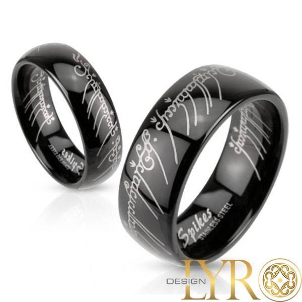 Bilde av The Ring - Sort Stålring