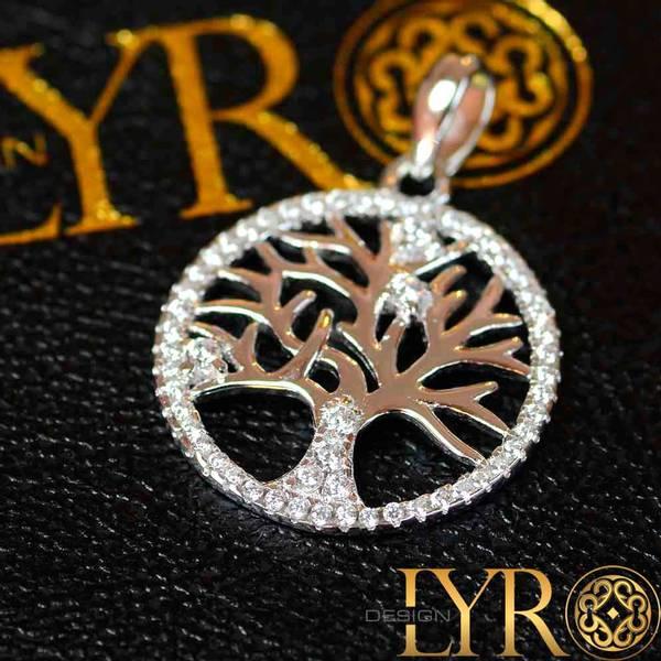 Bilde av Yggdrasil sølvanheng m/ CZ