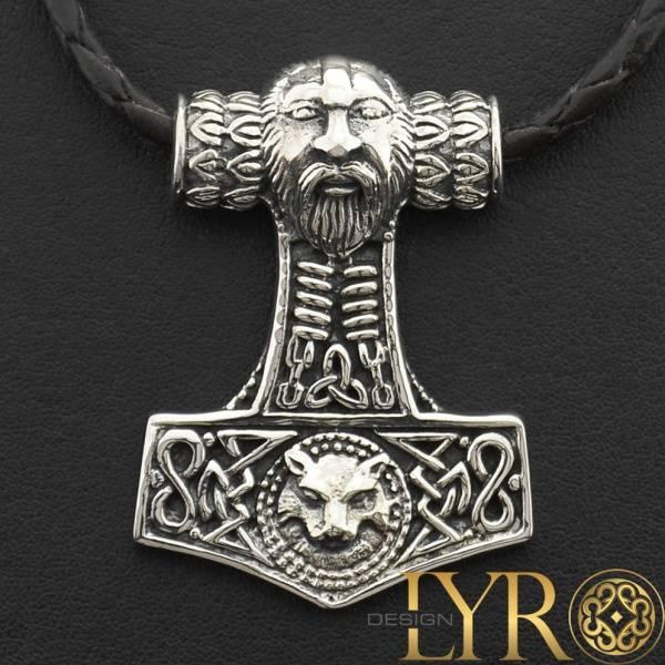 Bilde av Torshammer Vikinghode Massiv - Sølv